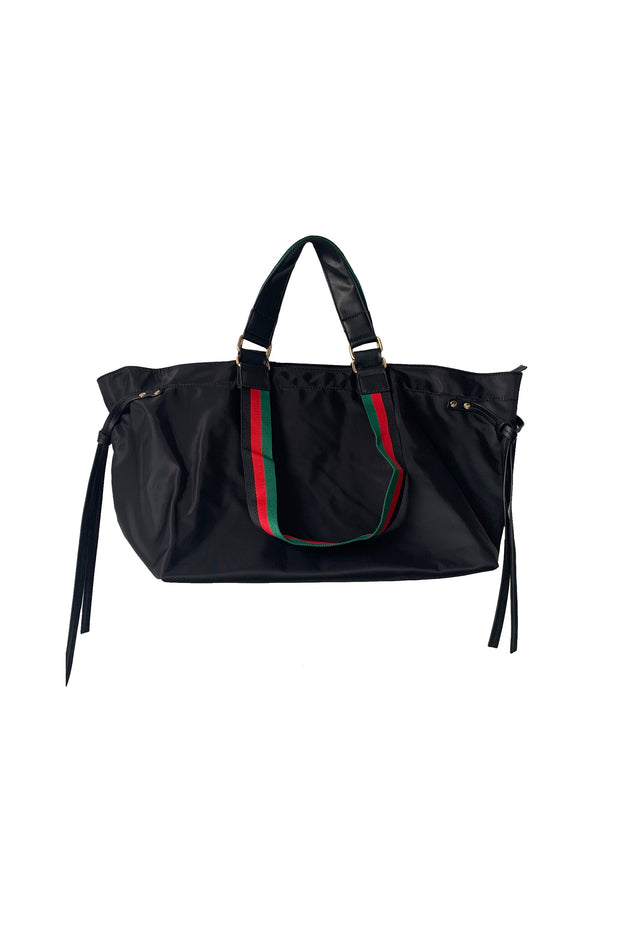 NYLON DOUBLE HANDLE CINCHED TOTE