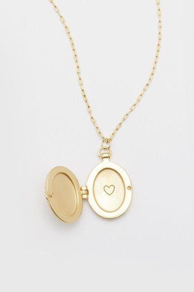 BALI ANTIQUE LOCKET NECKLACE- GOLD