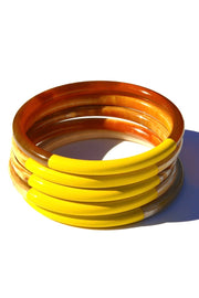 YELLOW HORN BANGLES