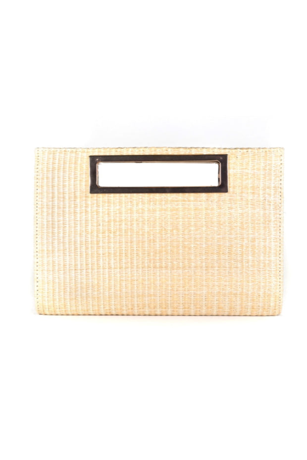 CHLOE STRAW CLUTCH