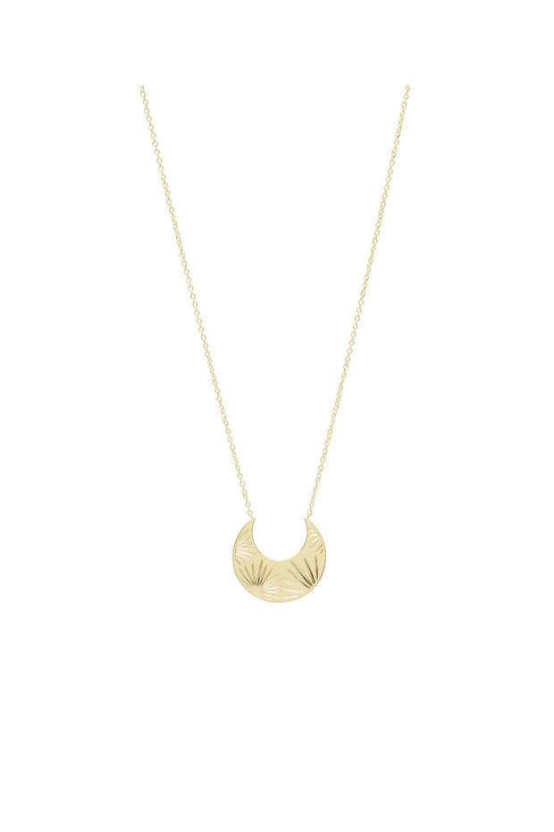 AZUL CRESCENT NECKLACE- GOLD
