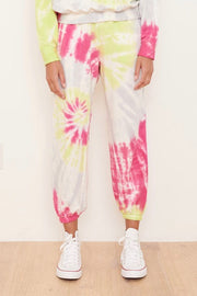TIE DYE VISCOSE FLEECE SWEATPANT