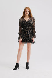 GLORIELLE ANIMAL PRINT CHIFFON DRESS