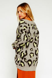 RELAXED LEOPARD CARDIGAN