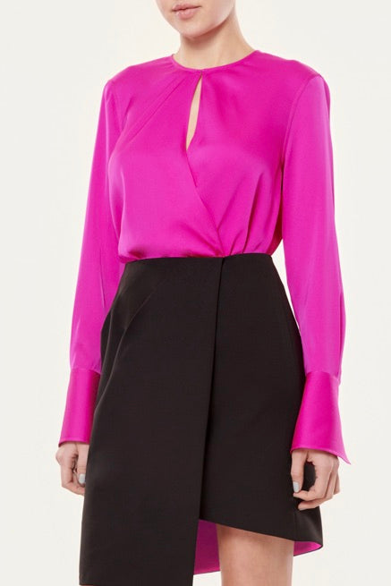 ELYSA STRETCH SURPLICE TOP