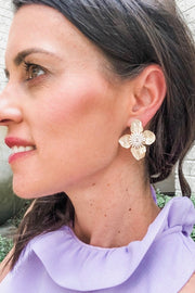 DESIGNER FLOWER STUD EARRINGS