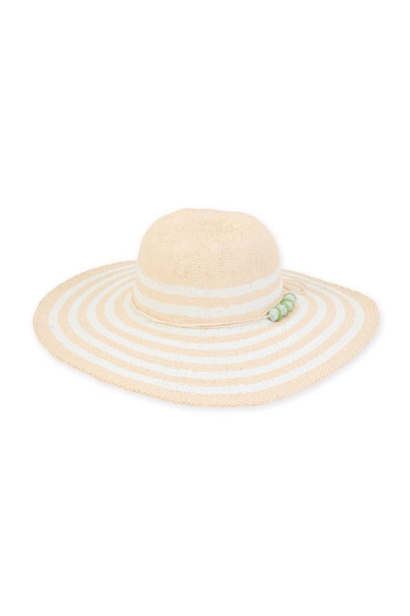 WIDE BRIM HAT W/BEADS
