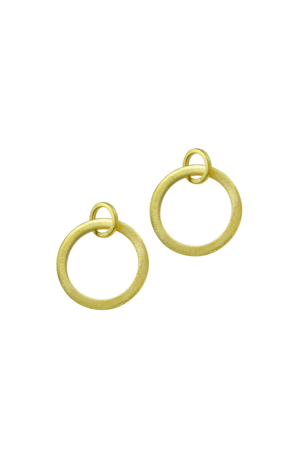 FLAT CIRCLES EARRING- GOLD