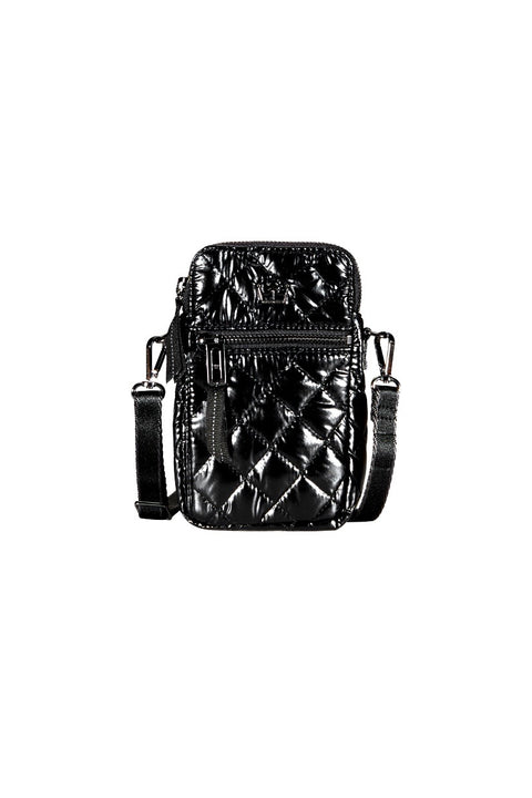 METALLIC CELLPHONE CROSSBODY