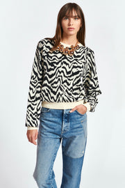 ZHELLO ANIMAL PATTERN SWEATER