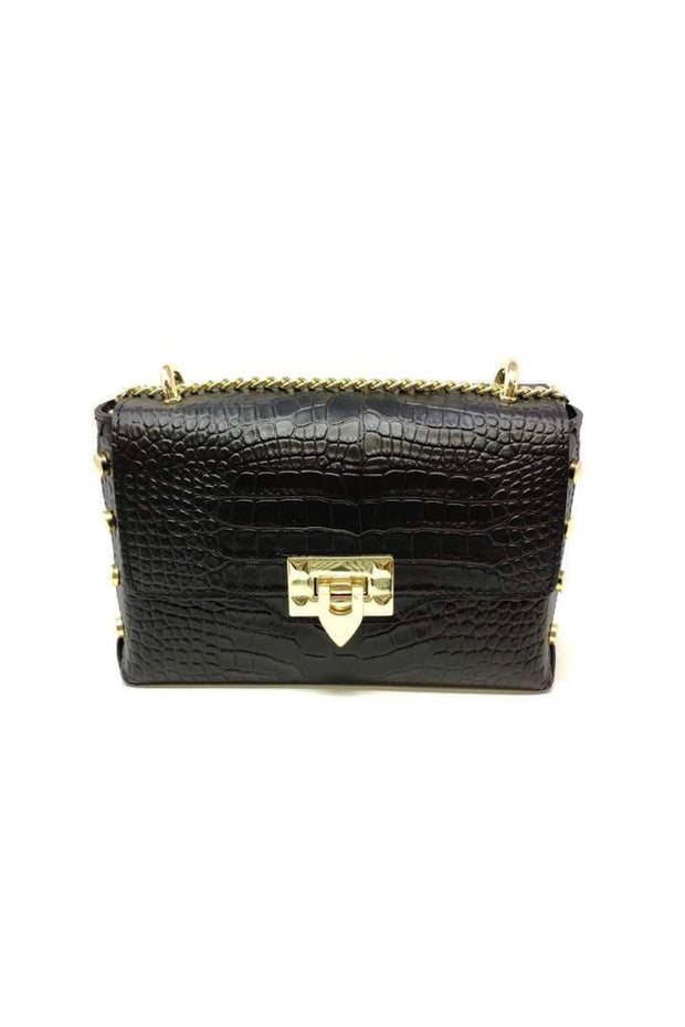 CROSSBODY BAG W/CHAIN STRAP & GLD BUCKLE (GF1039)