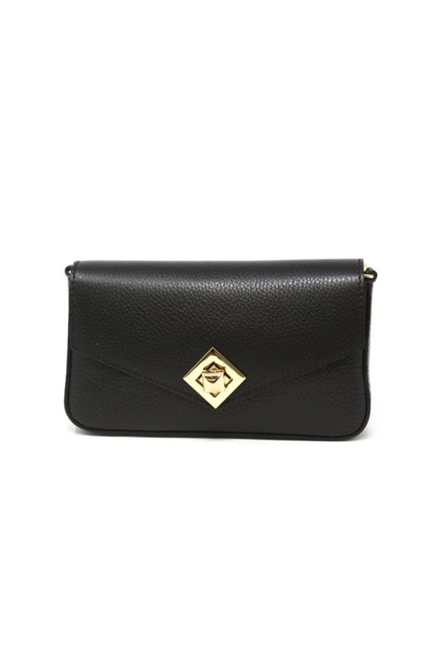 FLAP CLUTCH W/SQUARE CLOSURE & STRAP (GF0911)
