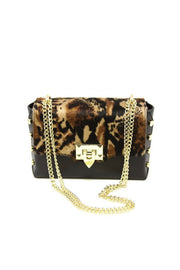 HAIR CALF/LEATHER CROSSBODY BAG (GF0867)