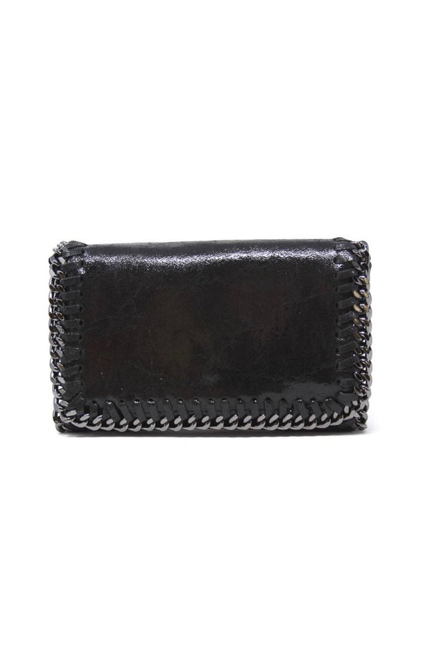 LEATHER CLUTCH/CROSSBODY W/CHAIN DETAIL (GF0434P)