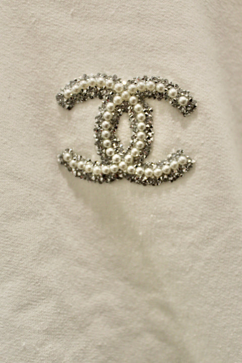 SHORT SLV CHANEL SWEATSHIRT