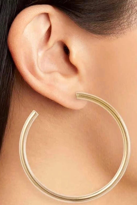 JADE LG HOOP EARRINGS