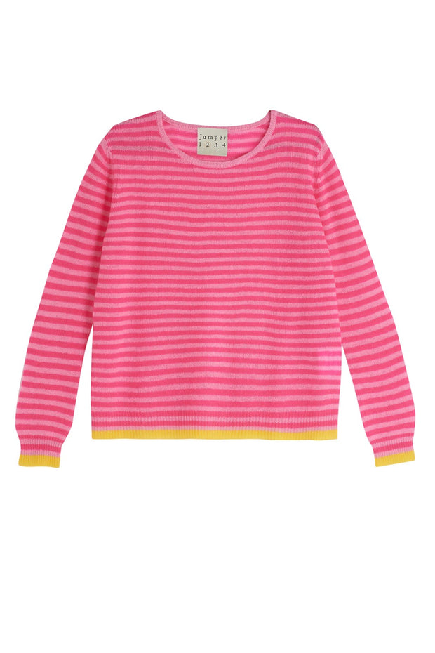 LITTLE STRIPE CREW SWEATER