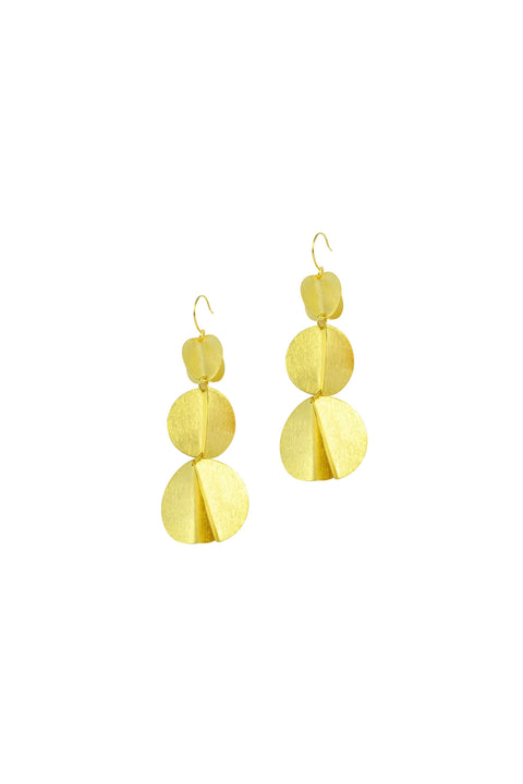 ANGELINA 3 BALL EARRINGS- GOLD