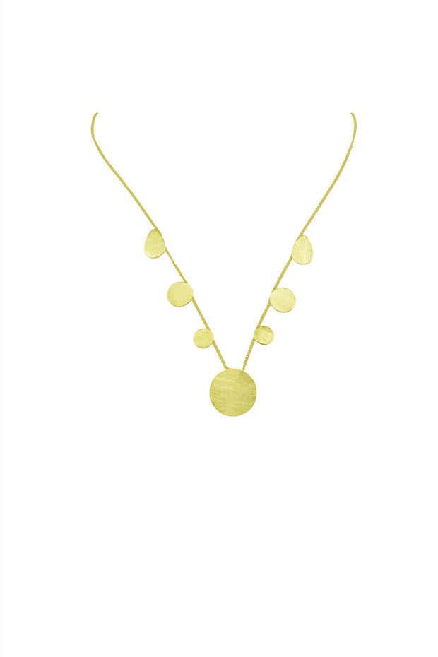 CIRCLES & SHAPES NECKLACE- GOLD