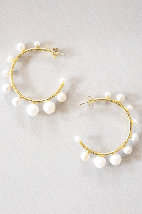 PEARL HOOP - MEDIUM