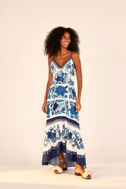 TROPICAL TILES MAXI DRESS