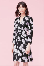 LS IKAT BLOSSOM DRESS