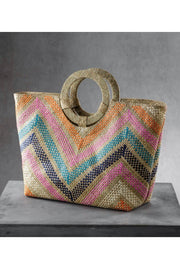 BEACH TOTE W/RING HANDLE