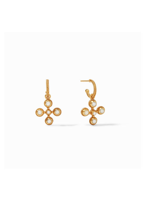 SOMERSET HOOP & CHARM EARRINGS