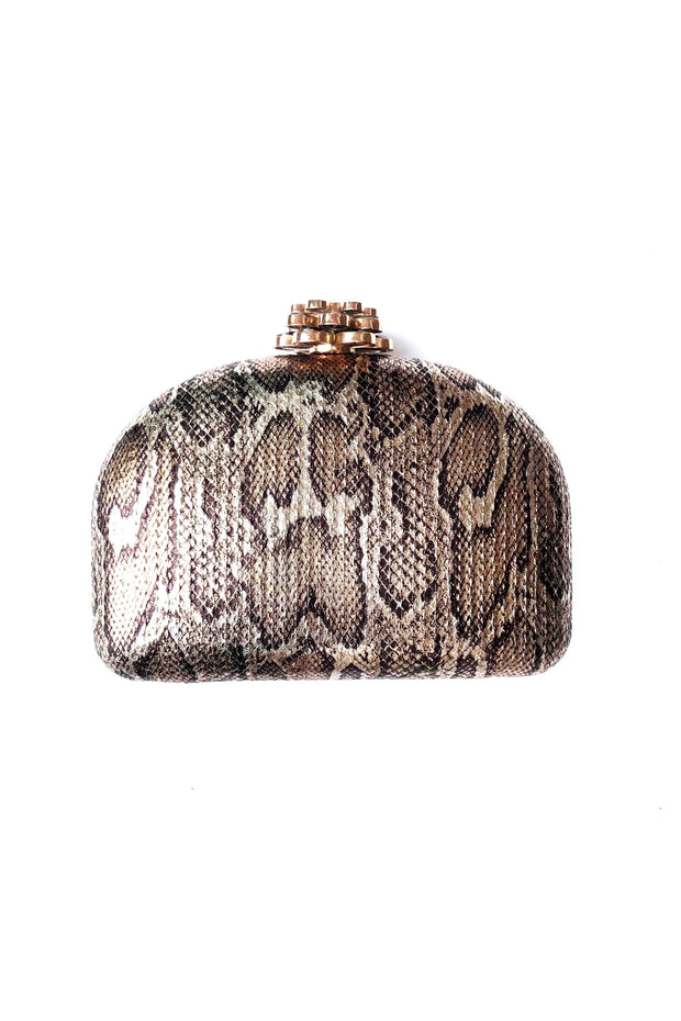 PYTHON SEQUIN CLUTCH W/JEWELED CLASP (SRB-E3549)