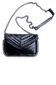 QUILTED CHAIN EDGE GLAZED CROSSBODY (SRB2-5842)
