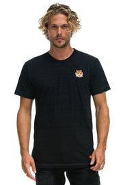 TIGER EMBROIDERY CREW T-SHIRT