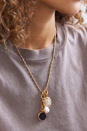 KEEPSAKE NECKLACE- WHITE/GOLD