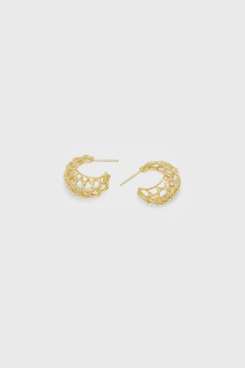 TULUM STATEMENT SM HOOPS- GOLD