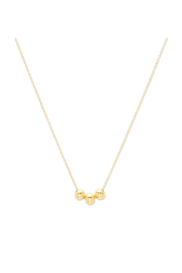 NEWPORT CHARM ADJ NECKLACE- GOLD
