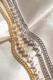 BALLIER CURB CHAIN NECKLACE- GOLD