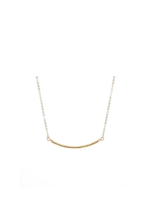 WALK THE LINE  FLAT CURVE BAR NECKLACE