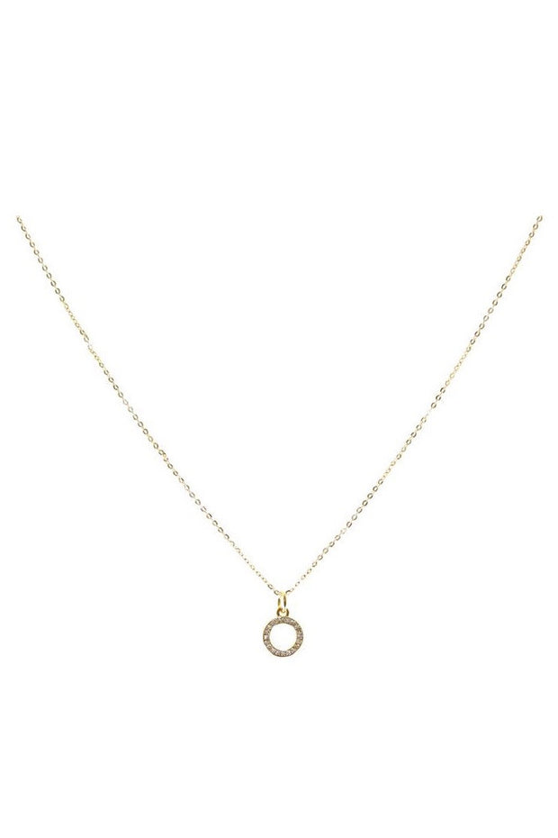 ELLE PAVE CIRCLE NECKLACE