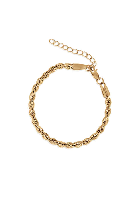 LUKA ROPE CHAIN BRACELET- GOLD