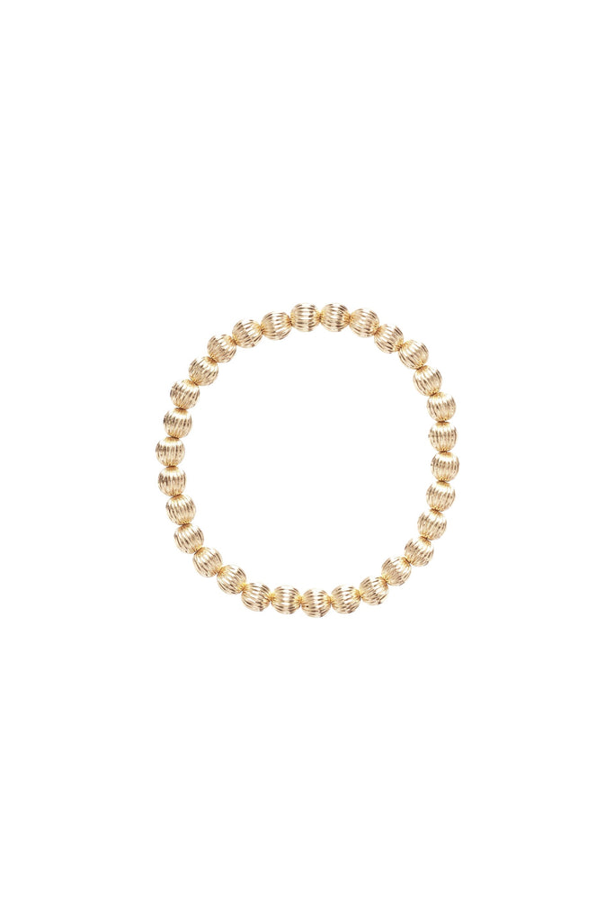 DIGNITY GOLD 6MM BEAD BRACELET