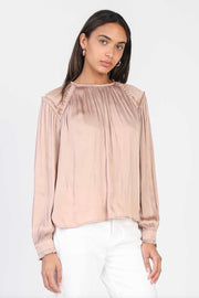 LS ROUND NECK BLOUSE