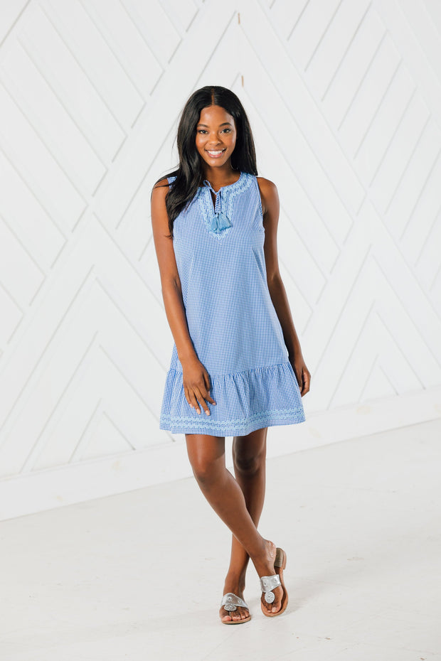 SLVLS RUFFLE HEM DRESS