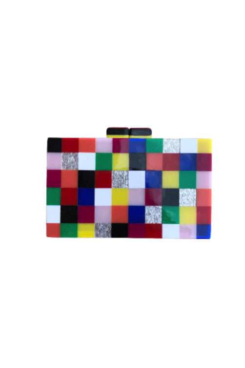 RESIN CHECKERBOARD CLUTCH (SRB-E3747)