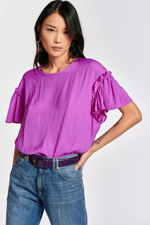 ZIVETTI RUFFLED SLV TOP