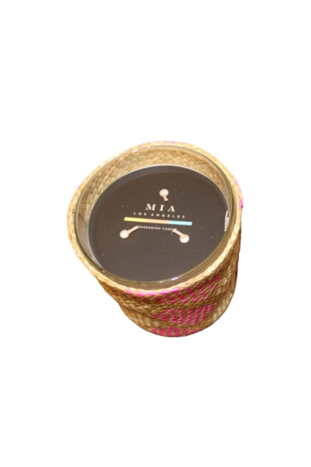 FRAGRANT WOVEN BASKET CANDLE