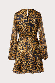 ELMA CHEETAH BURNOUT DRESS