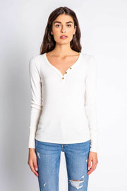 TEXTURED BASICS LS TOP