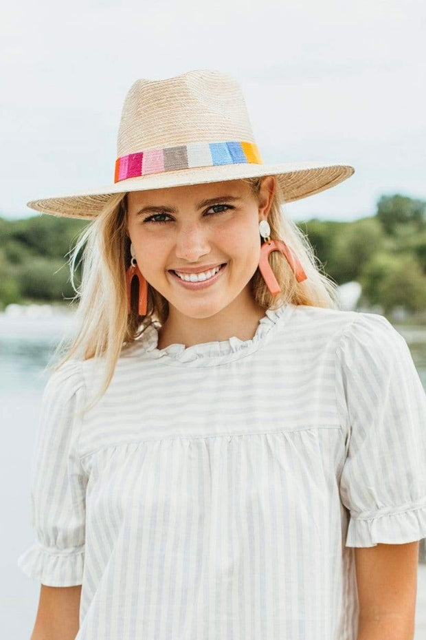ROSITA STRIPED SUN HAT
