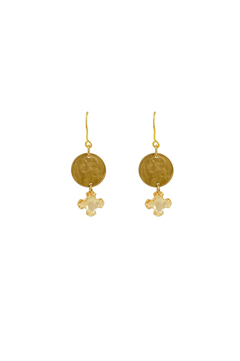 MALTESE COIN EARRING