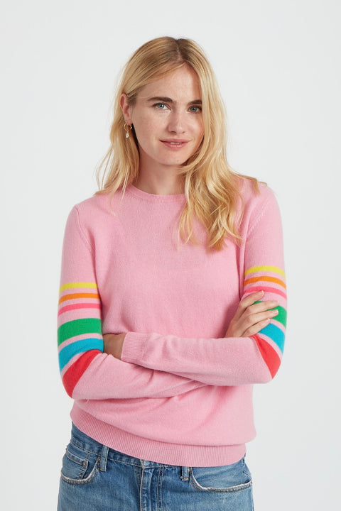 REBOOT RAINBOW ARMS SWEATER