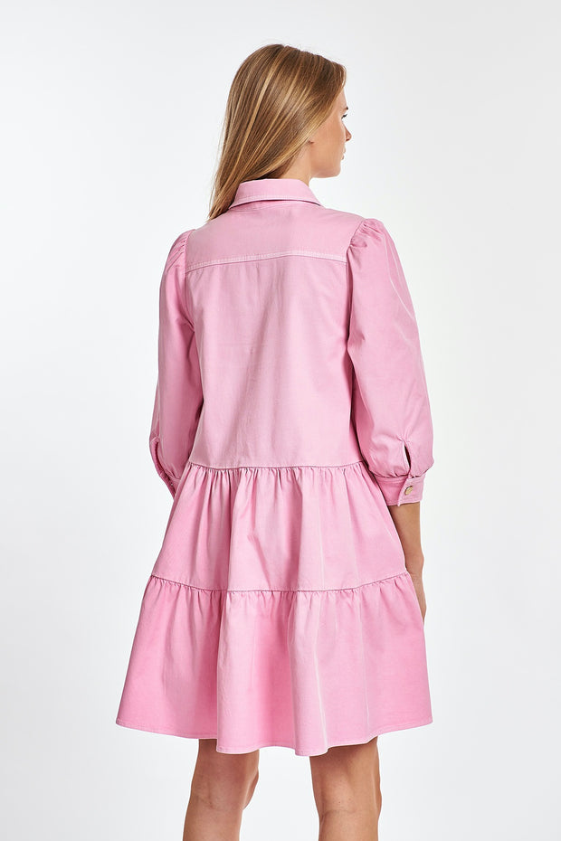 ZUNIYI PUFFY SLV SHIRTDRESS